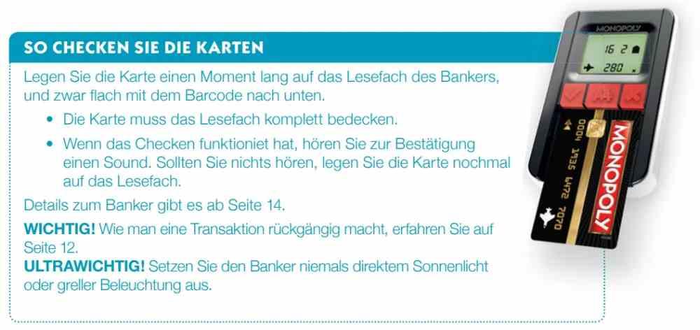 Ultra kartenleser anleitung monopoly banking Hasbro Monopoly