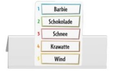Just One Wortkarte